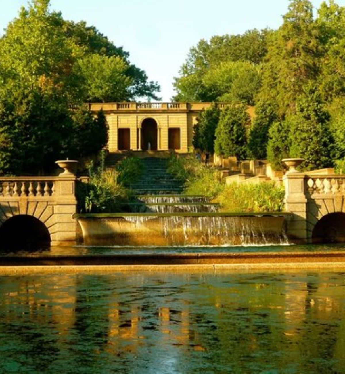 Meridian Hill Park Over A Body Of Water